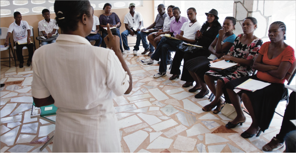 Image: Your support makes it possible to train more people to prevent VAWG. Courtesy of Beyond Borders Haiti.