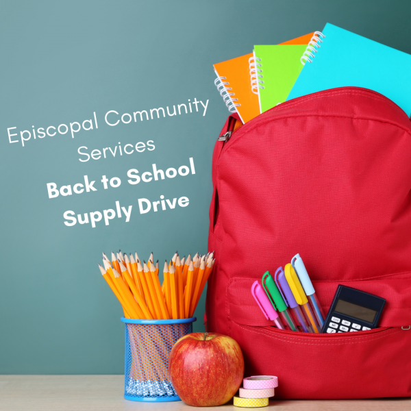 Episcopal Community Services Back to School Drive