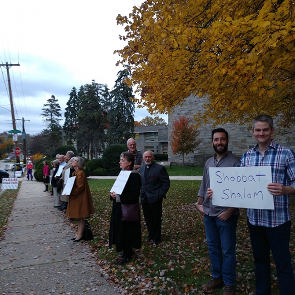 On November 2, 2018, St. Martin's members showed up for Shabbat at Germantown Jewish Center as a show of solidarity following the shooting at Tree of Life Synagogue in Pittsburgh.