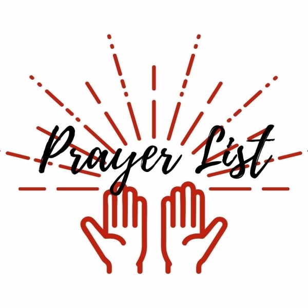 Prayer List: April 15, 2021