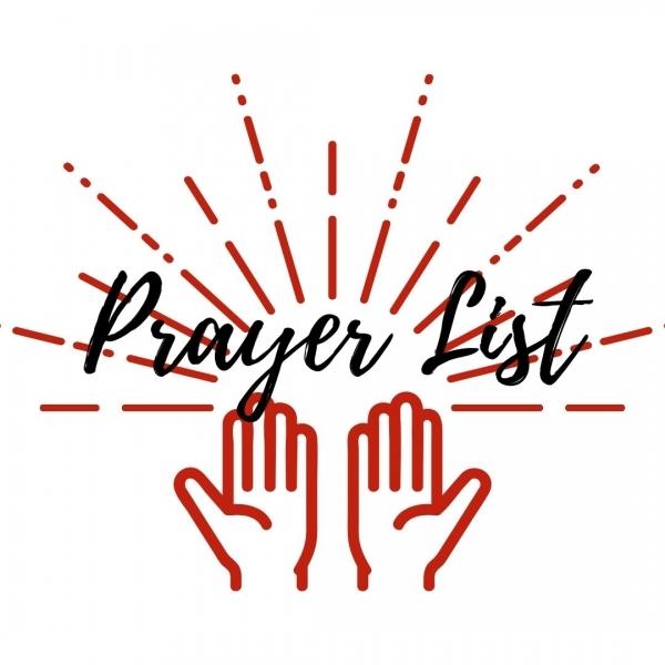 Prayer List: February 4, 2021
