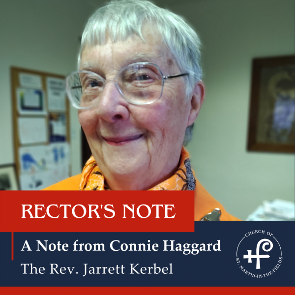 A Note from Connie Haggard