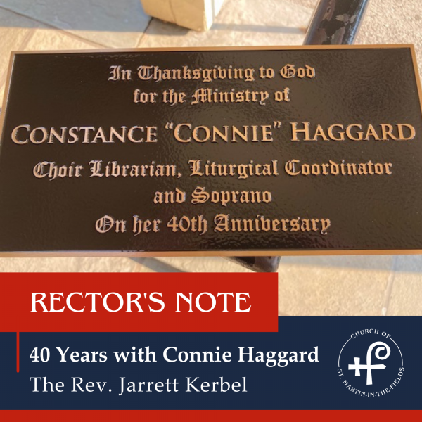 40 years with Connie Haggard