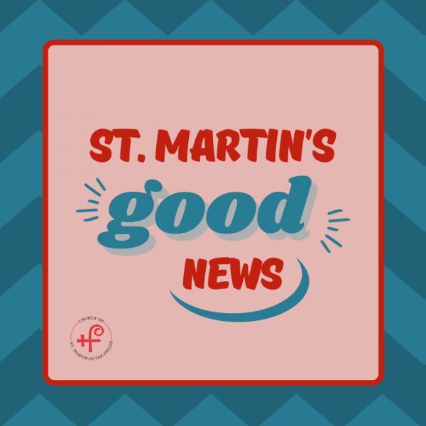New Year Good News at St. Martin's